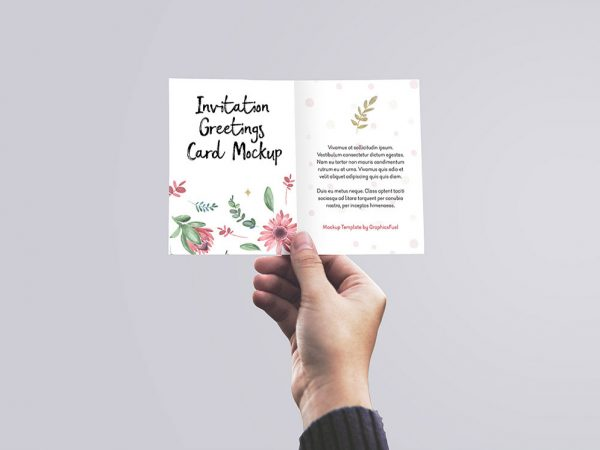 free Greetings Card/ Invitation Mockup