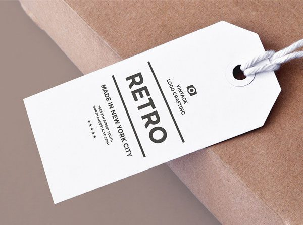 free Label Tag mockups